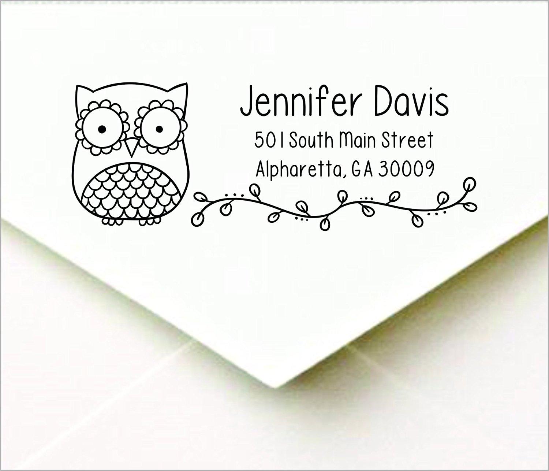 Owl Personalized Self Inking Return Address Stamp